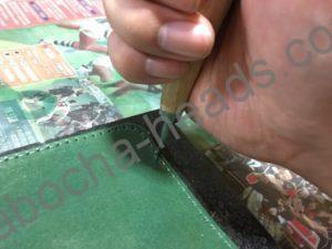 深緑のミドルウォレット5