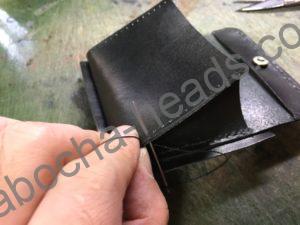旧クロコダイルの財布リメイク6