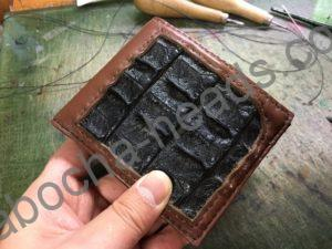 旧クロコダイルの財布リメイク10