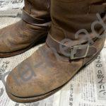 古いブーツの分解1