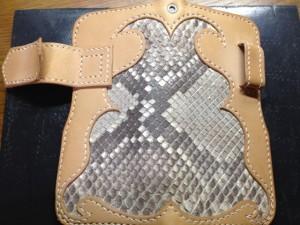 ヌメとダイヤモンドパイソンのロングウォレット1