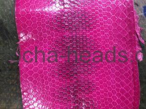 ピンクのウミヘビインレイのミニウォレット1