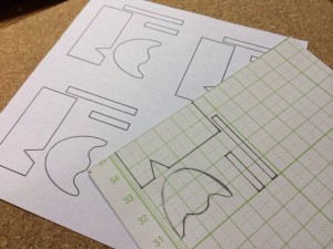 線を綺麗にして型紙を作る