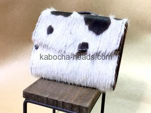極小ミニマム財布-毛付き牛