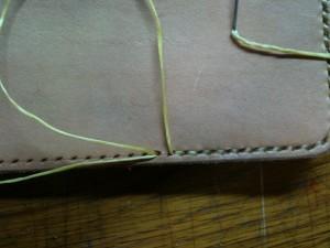 糸を菱目にかける2